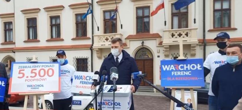 Marcin Warchoł zebrał 5,5 tys. podpisów i zgłosił kandydaturę (VIDEO)