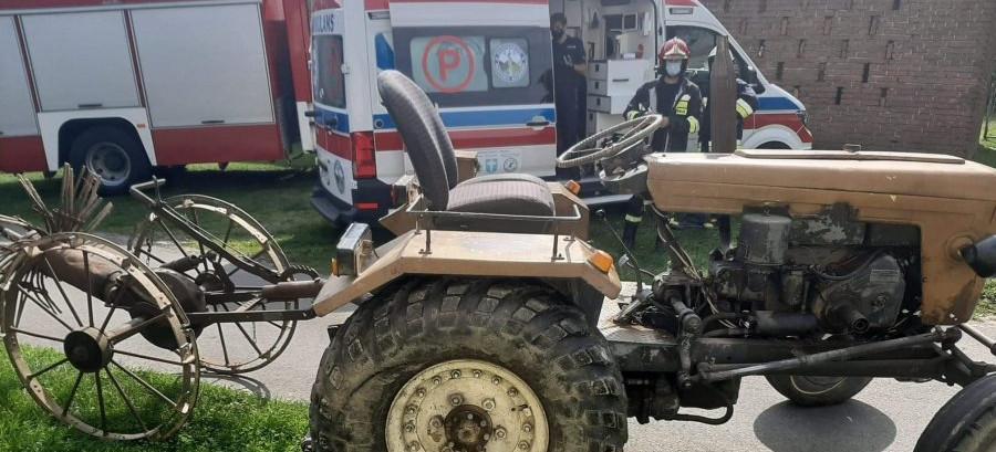 Ranny traktorzysta trafił do szpitala