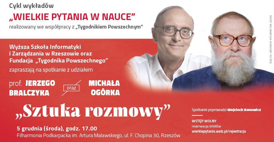 Jerzy Bralczyk i Michał Ogórek w Rzeszowie