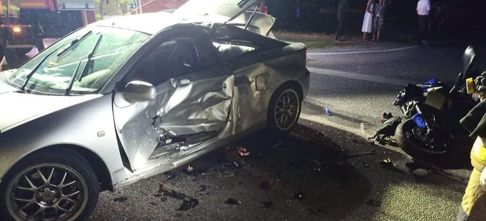 Wypadek. Ciężko ranny kierowca motocykla (ZDJĘCIA)