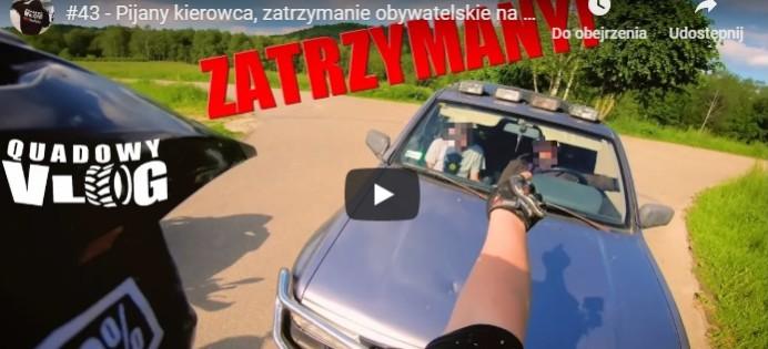 REGION: Obywatelskie zatrzymanie pijanego kierowcy. Zobacz WIDEO!