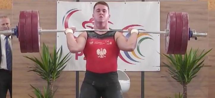 Patryk Sawulski z Sanoka mistrzem Polski w podnoszeniu ciężarów (ZDJĘCIA)