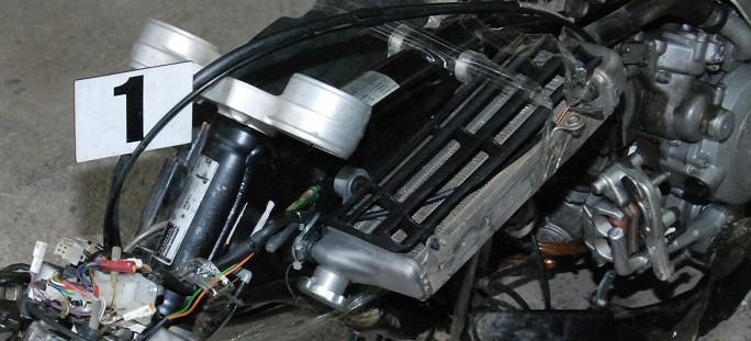 Kradziony motocykl rozłożony na części (ZDJĘCIA)