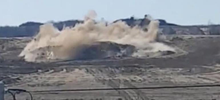 SANOK: Potężny wybuch na placu budowy obwodnicy Sanoka. Zobacz nagranie video! (FILM)