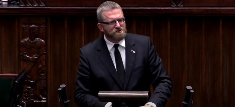 Sejmowa awantura. Grzegorz Braun bez maseczki (WIDEO)