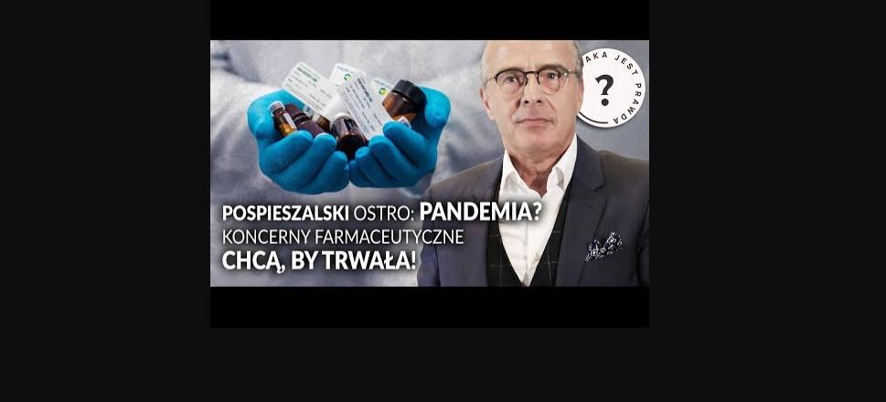 """POŚPIESZALSKI mocno o pandemii! """"Dywanowe szczepienia"""" i interesy koncernów?    JAKA JEST PRAWDA?"""