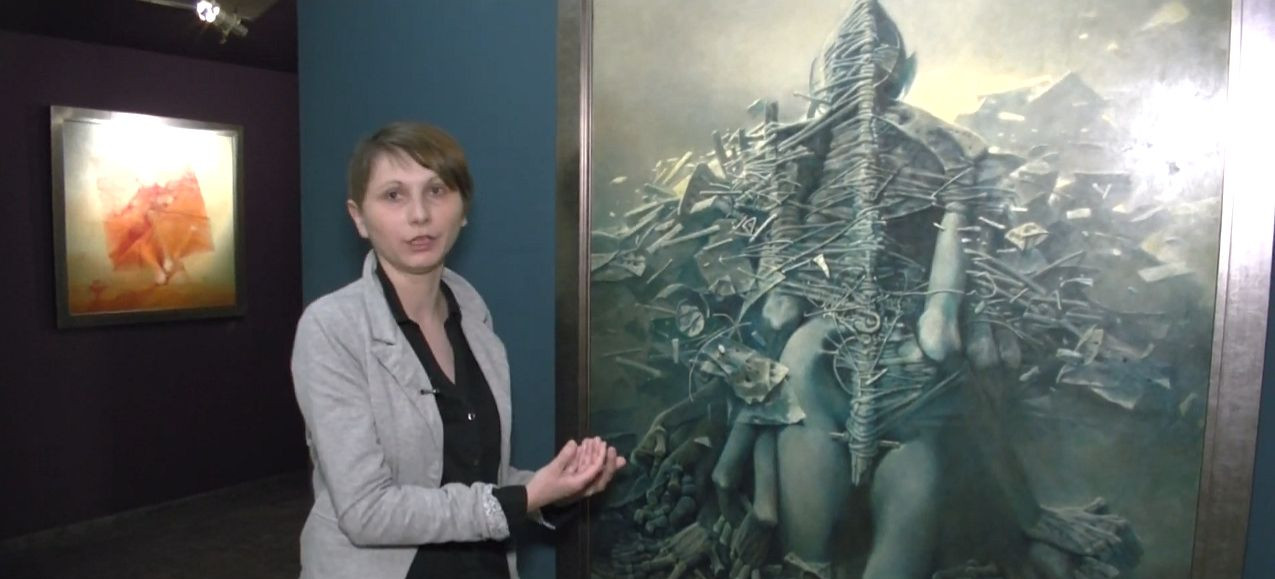 Dzieła Beksińskiego nie tylko w Sanoku. Odwiedzamy galerię w Częstochowie (VIDEO)