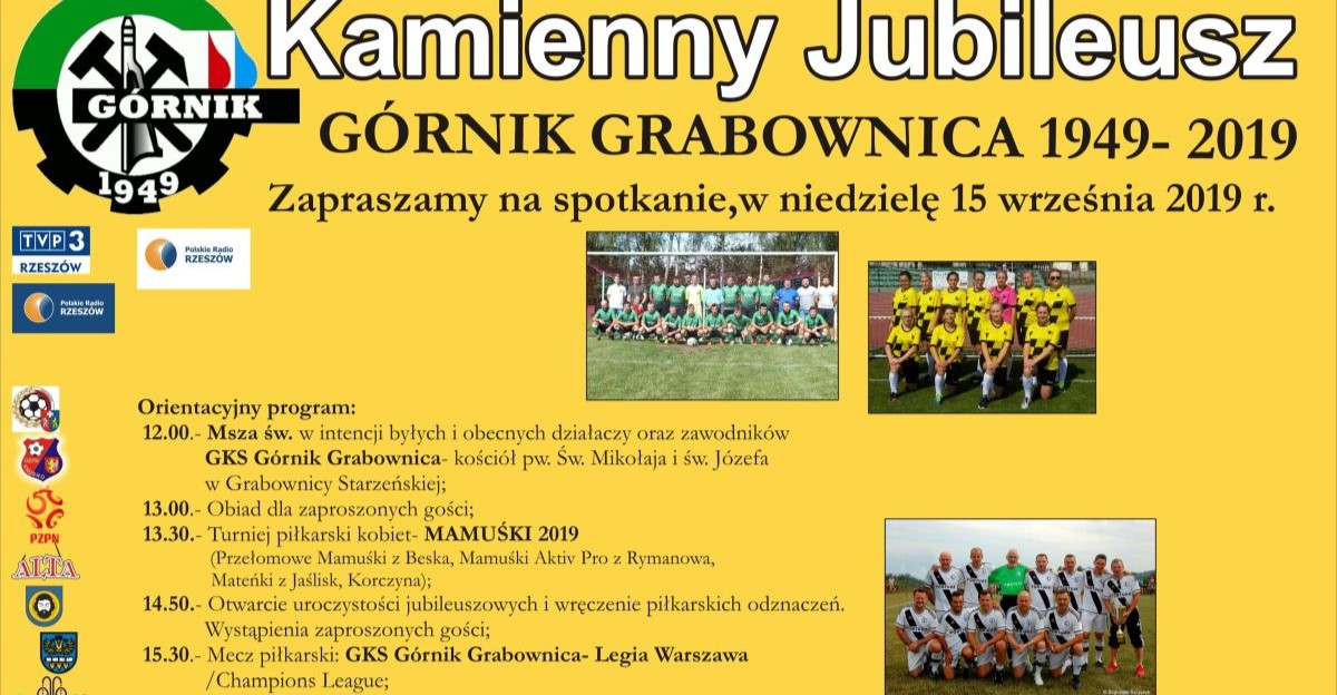 70-lecie Górnika Grabownica. Mecz z Legią Warszawa