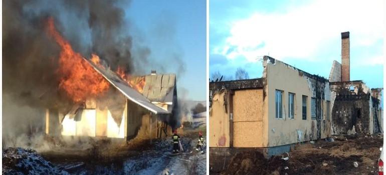 POGORZELCY: Doszczętnie spalił się dom z oborą. Nadal potrzebna jest pomoc!