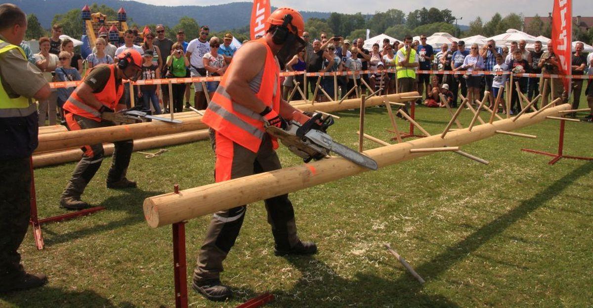 Zmagania drwali, żubrze dyktando i kiermasz bieszczadzkich twórców (FOTO)