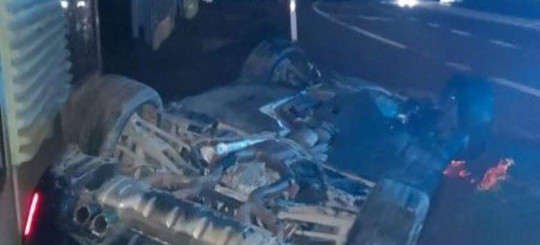 Dachowanie BMW w Kraczkowej. 59-letni kierowca był pijany (FOTO)