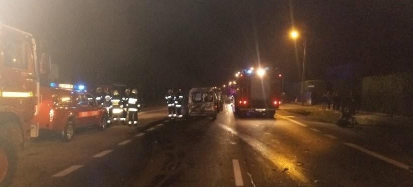 Wypadek w Kolbuszowej Górnej, dwie osoby ranne