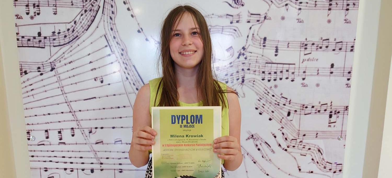 SANOK. Milena Krowiak na podium w X Ogólnopolskim Konkursie Pianistycznym