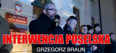 Poseł Grzegorz Braun: Interwencja poselska w Ostrowi Mazowieckiej
