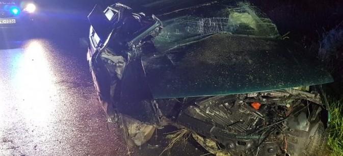 Pijany kierowca seata dachował uciekając przed policją (FOTO)
