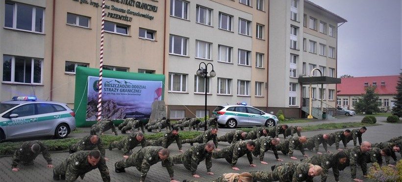 """#GaszynChallenge. Podkarpaccy pogranicznicy """"pompują"""" dla chorych dzieci! (WIDEO)"""