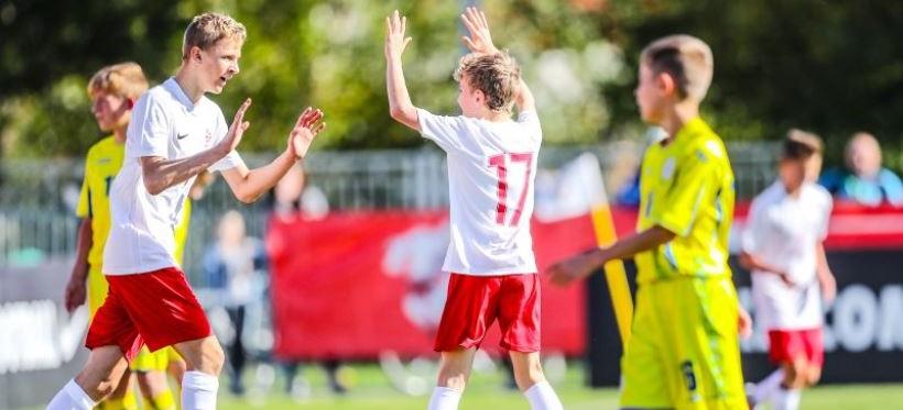 Mecz Polska – Ukraina U14 w Boguchwale