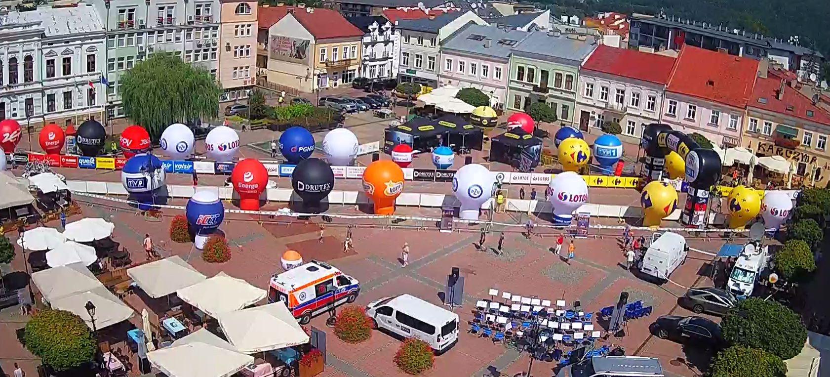 Tour de Pologne NA ŻYWO z sanockiego Rynku! (VIDEO)