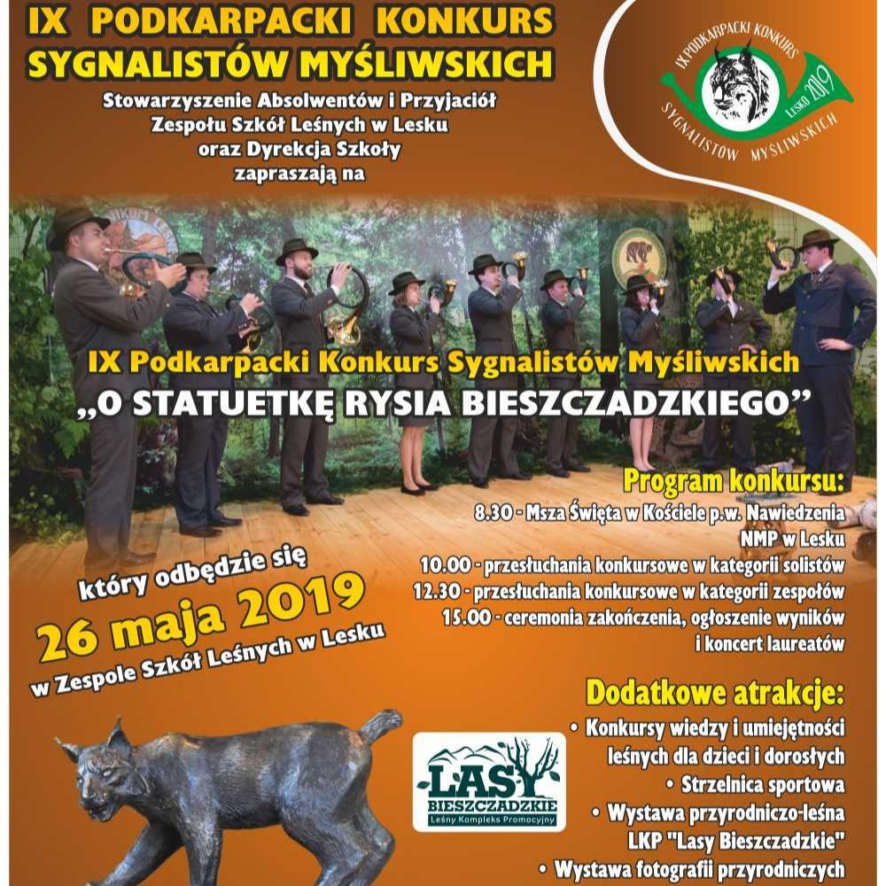 Sygnaliści myśliwscy powalczą o statuetkę Rysia Bieszczadzkiego! (PROGRAM)