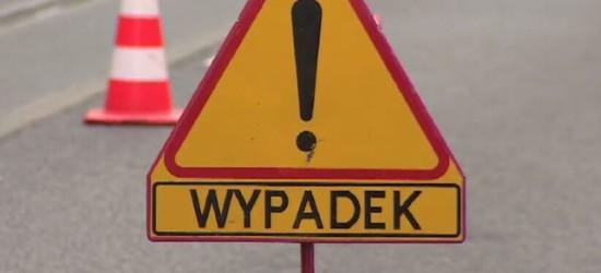 Wypadek w Jurowcach. Droga zablokowana