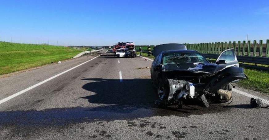 PODKARPACIE. Groźny wypadek na autostradzie A4. Jedna osoba trafiła do szpitala! (FOTO)