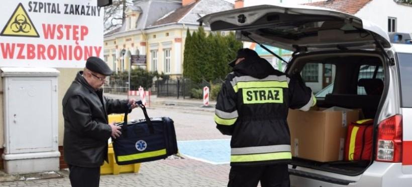 Podkarpaccy strażacy przekazali 8 respiratorów dla łańcuckiego szpitala!