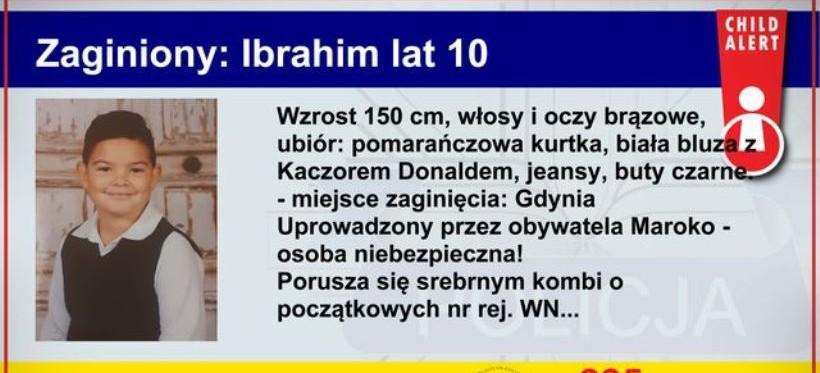 """Uprowadzono 10-letniego Ibrahima! """"Child Alert""""w całej Polsce!"""