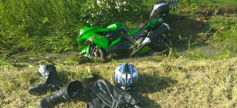BIESZCZADY: Motocyklista wyleciał z drogi. Jechał zbyt szybko? (ZDJĘCIA)