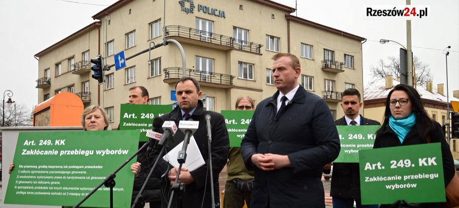 Sztab Grzegorza Brauna w Rzeszowie: Policja zakłóca przebieg wyborów (VIDEO, ZDJĘCIA)