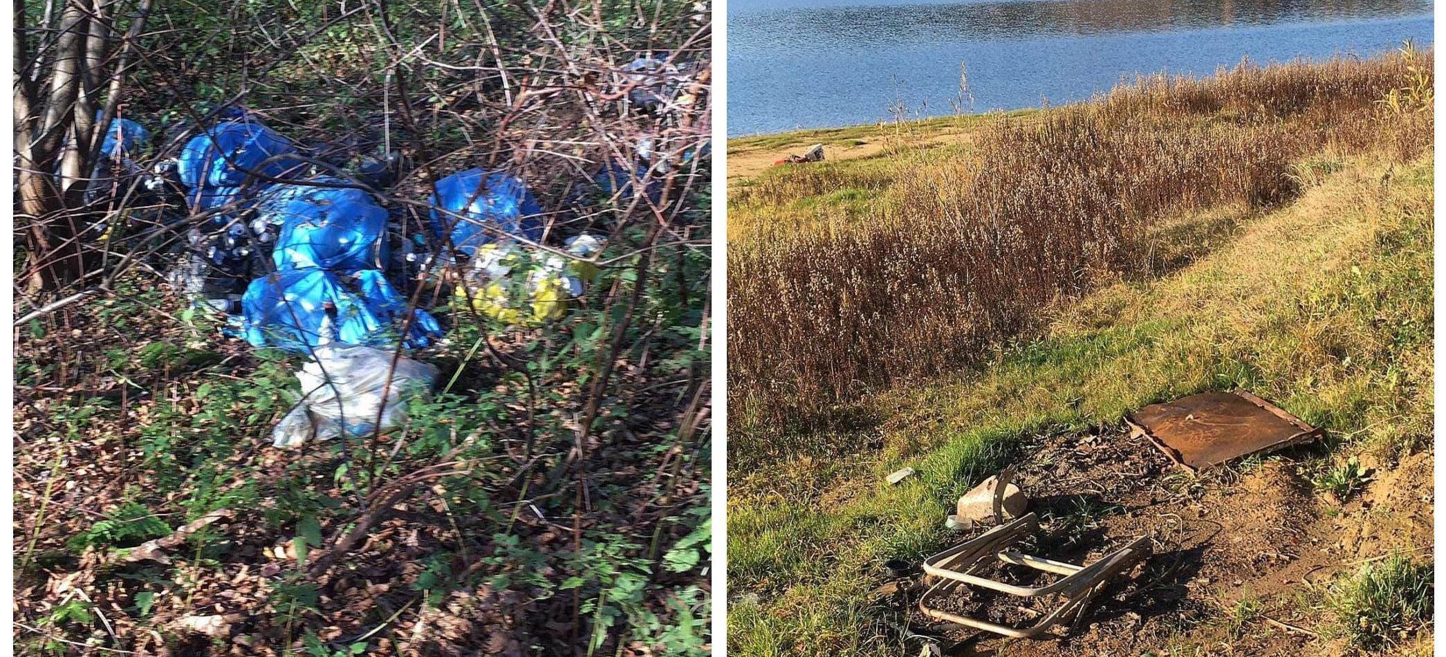 Dzikie wysypiska śmieci przy Jeziorze Solińskim… (ZDJĘCIA)