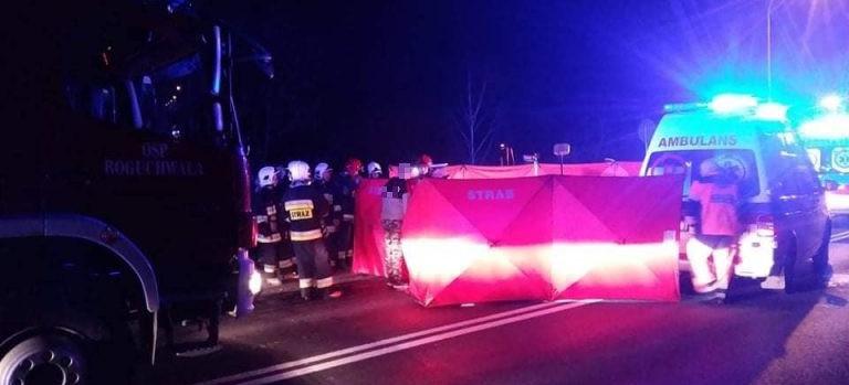 Tragiczny wypadek na DK 9! Nie żyje 51-letni pieszy