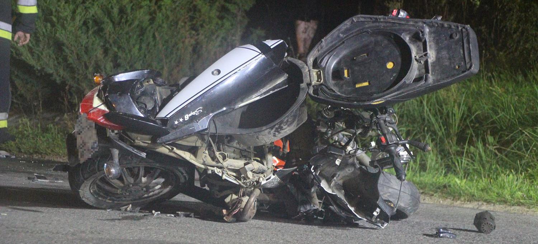 STRACHOCINA. 20-letni motocyklista zjechał na przeciwny pas. NOWE INFORMACJE