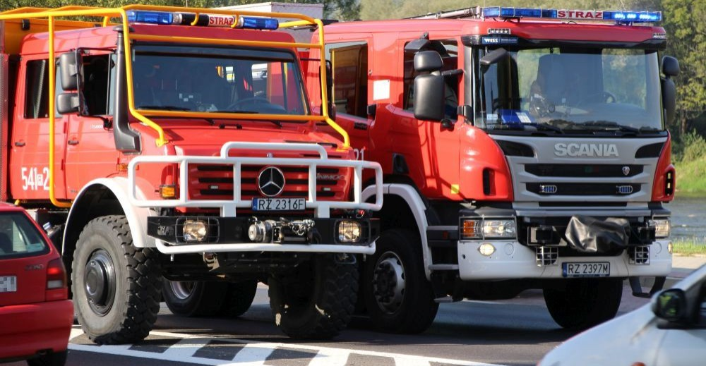 Tragiczny pożar w Łańcucie. W budynku spalone ciała dwóch osób