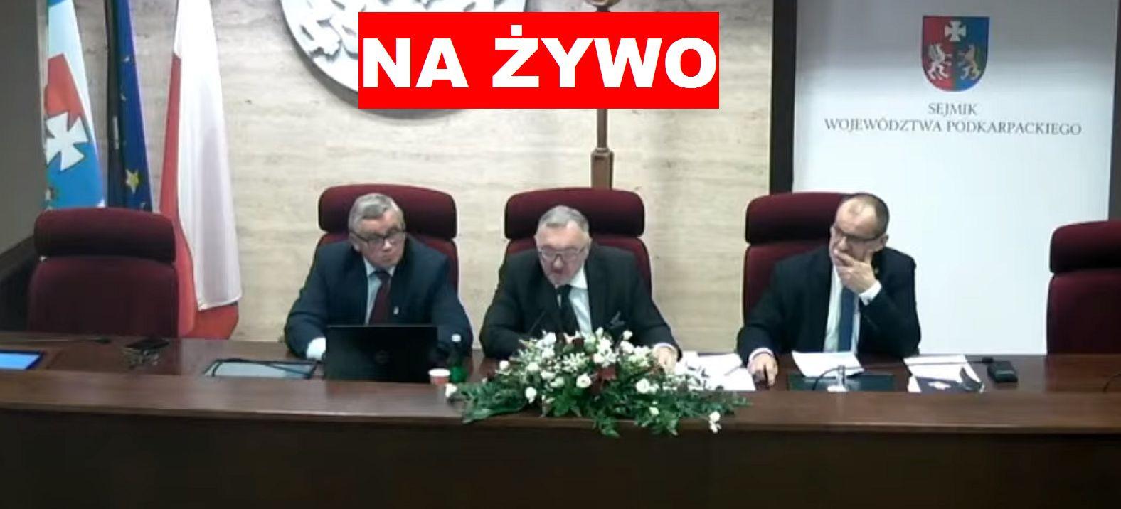 tvPolska.pl : Sesja Sejmiku Województwa Podkarpackiego. Oglądaj NA ŻYWO!