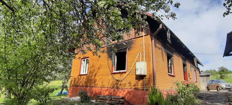 Pożar domu. Rodzina potrzebuje naszej pomocy! ZDJECIA