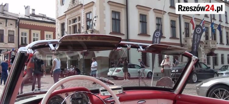Zlot fanów Mercedesa na Rynku w Rzeszowie (FILM)