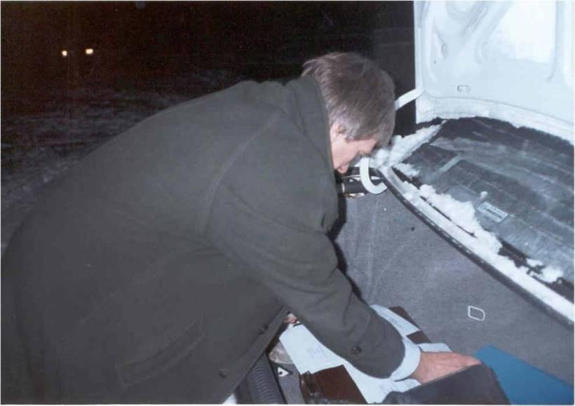 1995 Pierwszy Rektorat, który mieścił się w bagażniku samochodu prof. J. Posłusznego