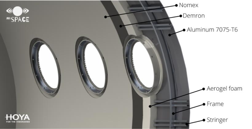 4. Praca zespołu dotycząca ochrony przeciwradiacyjnej pasażerów samolotu suborbitalnego (grafika Innspace)