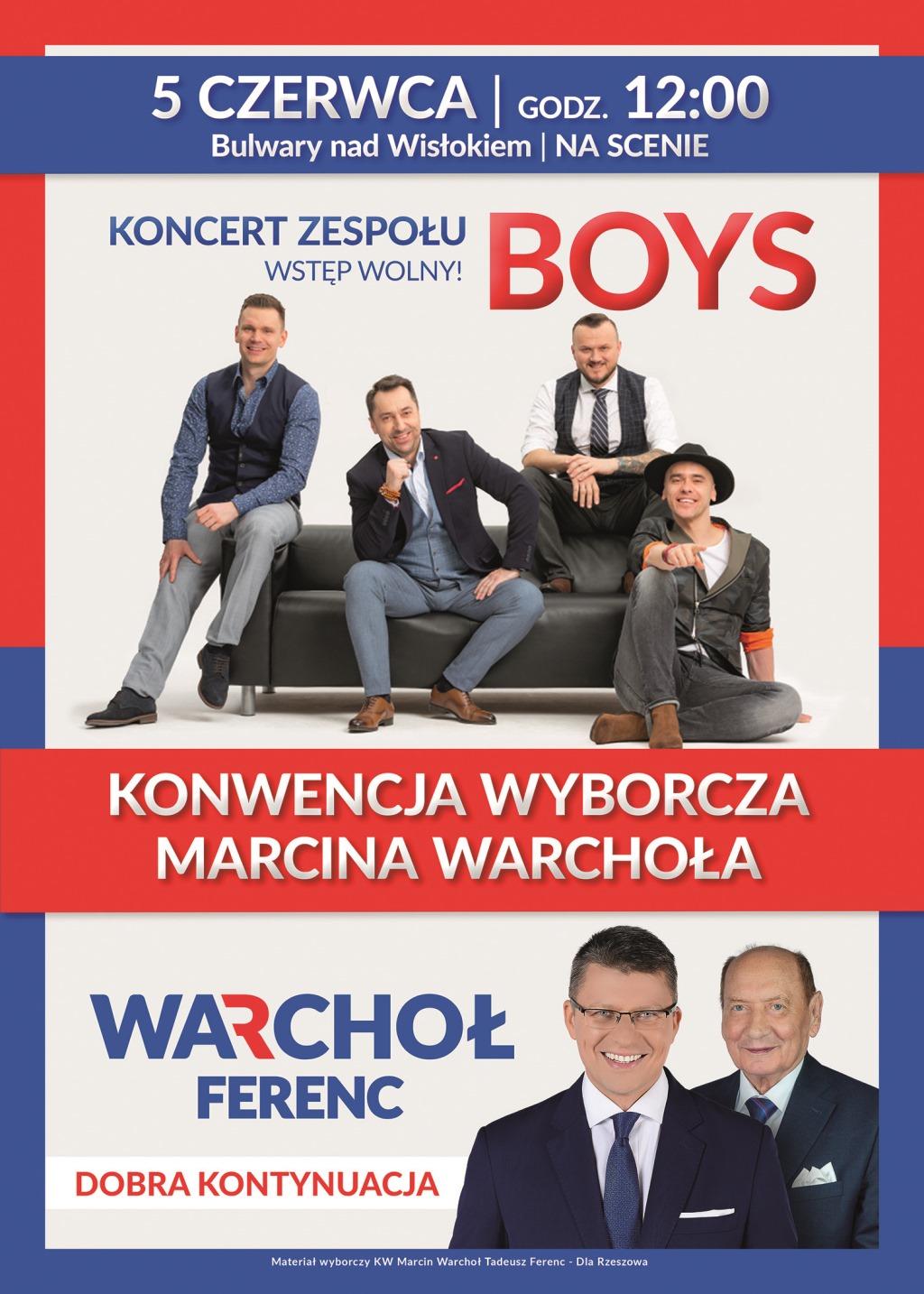 Konwencja Wyborcza Marcina Warchoła oraz koncert BOYS