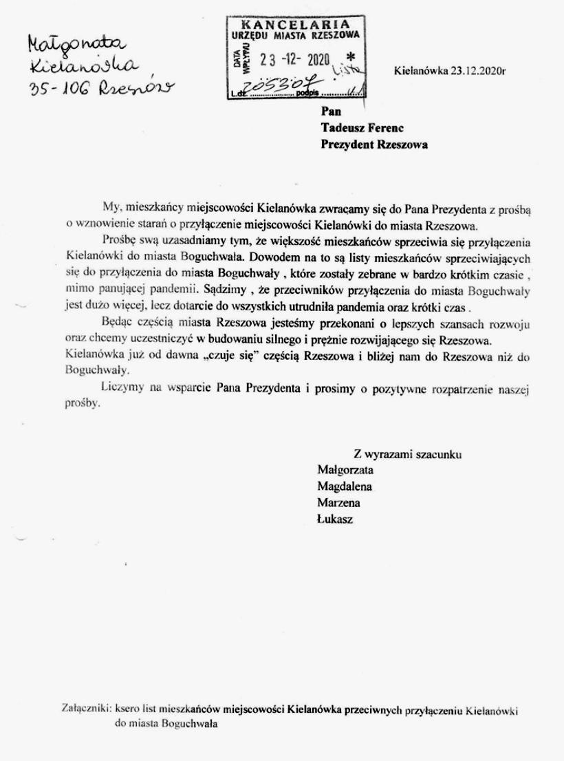 list kielanowka