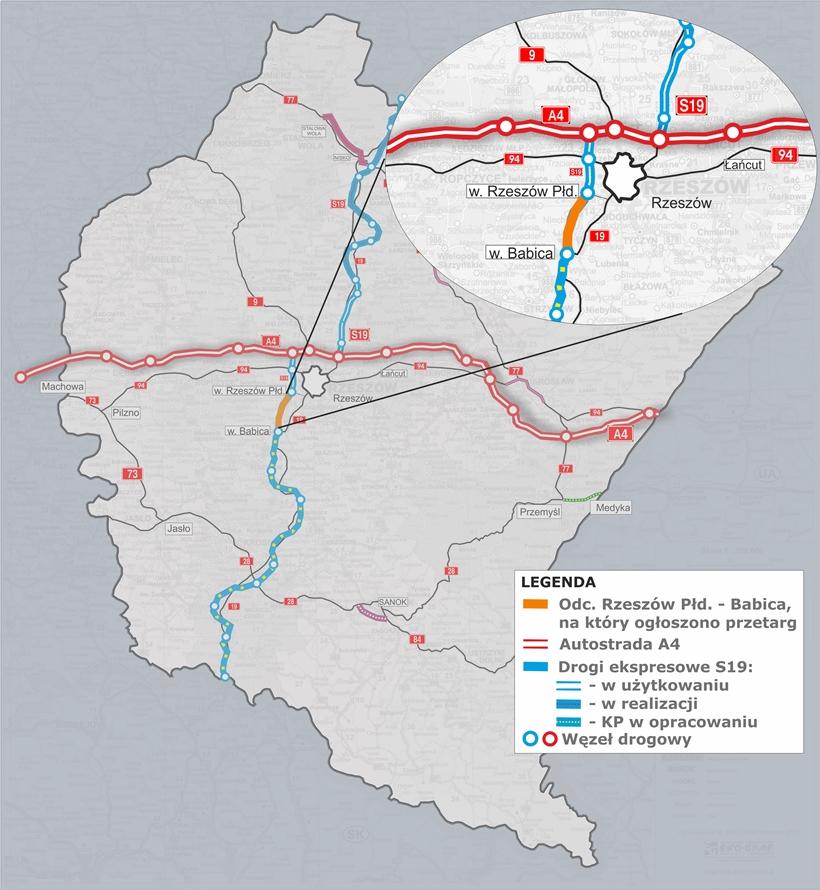 mapa s19 przetarg babica