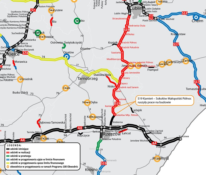 mapa_S19_Kamień-Sokołów_Młp._Płn.-rozpoczęcie_budowy